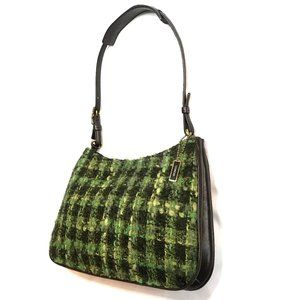 New Coach leather and tweed shoulder bag